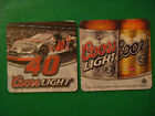 2005 Beer Coaster Coors Light Silver Bullet Golden COLORADO  Auto Racing