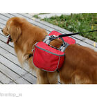 Dog Pet Back Pack Backpack Saddle Bag for Outdoor Hiking Camping Training