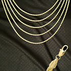 14K ITALY GOLD PLATED 2mm ROPE CHAIN NECKLACE GUARANTEED SAME DAY SHIP R2ALL
