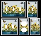 BUTTERFLY SUNFLOWER BY THE POND K1 LIGHT SWITCH COVER PLATE OR OUTLETS U PICK