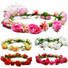 Vintage Rose & Carnation Hair Head Garlands Accessory. Festival Bridal Wedding