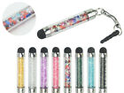 5 x 3.5mm Plug Crystal Beads Capacitive Stylus for Samsung Alpha Core II Grand 2