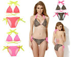 Colloyes Sexy Women's Triangle Bikini Set Push Up Halter Swimsuit Beach Swimwear