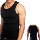 3 Pc 100%  Cotton Mens A-Shirt Wife Beater Ribbed Tank Top Undershirt Black !