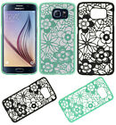 For Samsung Galaxy S6 TPU FLOWER GUMMY Hard Case Phone Cover Accessory
