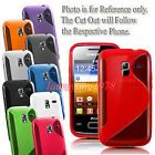 S-Line Tpu Gel Silicone Skin Back Case Cover fit Various Samsung Phone Models