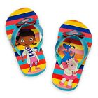 DISNEY STORE DOC MCSTUFFINS CUTE FLIP FLOPS FOR GIRLS BLUE WITH HEARTS