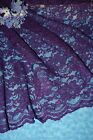 "Plum Bridal Wedding lace fabric-Sold/Priced by the 1/2yard-52"" wide"