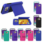 Samsung Galaxy S6 Credit Card Wallet Case Hybrid Stand Hard ID Protective Cover