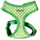 ANY SIZE - IPUPPYONE - SOFT DOG HARNESS - ADJUST CHEST & NECK - RACING - GREEN