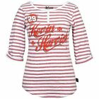Chase Authentics Kevin Harvick Womens Track Stripe Henley T Shirt Red White