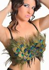 Burlesque Style Peacock Feather Convertible Showgirl Costume Bra Top A B C D