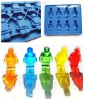 2Color Brick & Man Silicone Minifigure Jelly Chocolate Ice Cube Mould Mold Tray