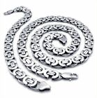 Mens Flat Stainless Steel Bracelet Necklace Moon Star Silver Unique Charm Chain