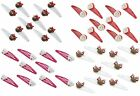 Zest 10 Christmas Hair Clips Slides Hair Accessories