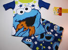 New Cookie Monster Sesame Street Toddler Boys 12 months - 5T 2 piece pajamas