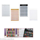 Professional Nail Art Display Chart Exhibition Board Template Stand Holder Shelf