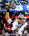 Russell Wilson Seattle Seahawks Super Bowl Trophy Photo QQ015 (Select Size)