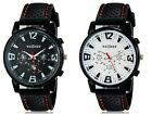 New Mens Quartz Analog Watches Sports Digital Wrist Watch Black Rubber Band