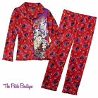 EVER AFTER HIGH KIDS GIRLS RED FLANNEL STYLE PAJAMAS SET L 10/12 M 7/8 S 6/6X