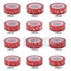 1X Red Wahi Tape Flowers DIY Craft Decor Scrapbooking Paper Adhesive Sticker