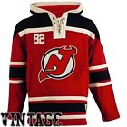 Men's New Jersey Devils Old Time Hockey Red Home Lace Heavyweight Hoodie