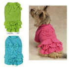 CHOOSE SIZE & COLOR - Zack & Zoey - POLKA DOT RUFFLE DRESS - DOG PUPPY CLOTHES