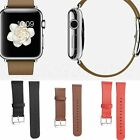 Classic Buckle Leather Watch Band Wristband Strap for Apple Watch 38mm or 42mm