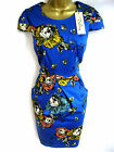 Darling Blue Floral Poppie Dress S-XL / 10-16 Fitted Flattering  Occasion