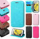 For Motorola Moto E 2nd Gen Premium Wallet Case Pouch Flap STAND Phone Cover