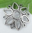 Wholesale 22/48Pcs Tibetan Silver  Bead Caps 23x5mm(Lead-free)