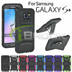 Rugged Hybrid Impact Hard Case Soft Cover Clip Holster for Samsung Galaxy S6 new