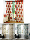 EYELET RING TOP LARGE POPPY FLORAL READY MADE PAIR CURTAINS NEXT DAY DESPATCH