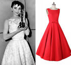 Celeb Vintage 1950's 60's Rockabilly Sleeveless Swing Formal Evening Party Dress