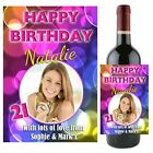 Personalised 18th 21st 30th 40th Birthday Wine Champagne Bottle Label Gift N55