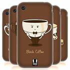 HEAD CASE COFFEE PERSONALITIES SILICONE GEL CASE FOR APPLE iPHONE 3GS