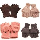 1Pair Fall Winter Hand Wrist Warm Thick Fingerless Gloves Women's Girl Gift - CB