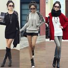 New Women Leopard Print Batwing Long SleeveT-shirt Tunic Pullover Top Blouse S
