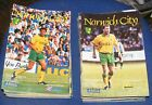 NORWICH CITY HOME PROGRAMMES 1994-1995