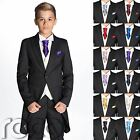 Boys Black Suit, Page Boy Suits, Boys Morning Suit, Boys Cravat & Pocket Square