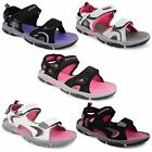 Womens Ladies Dunlop Flat Open Toe Velcro Sports Sandals Trekking Hiking Shoes