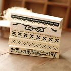 Vintage Border Lace Wooden Rubber Stamp Scrapbook Craft Xmas Party Decor