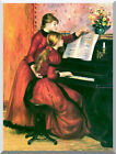 Stretched The Piano Lesson Pierre Auguste Renoir Painting Repro Wall Art Print