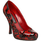 "FUNTASMA BLOODY-12 5"" Heel Vampir Zombie Costume Dress Pump, Blood Splatter"