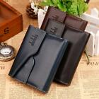 New Mens Leather Bifold Wallet Credit/ID Card Holder Slim Centre Bifold Purse