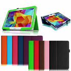 Folio Stand Leather Cover Case For Samsung Galaxy Tab 4 10.1 SM-T530NU Tablet