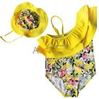 New baby girls Swimwear kids Swimsuit bathing suit Falbalas cute flowers suit