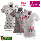Joules Dunsden Print Ladies Polo Shirt (S) **BNWT** **FREE UK SHIPPING**