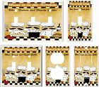FAT CHEFS HOME IS IN THE KITCHEN LIGHT SWITCH COVER PLATE U PICK PLATE SIZE