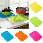 HOT Silicone Trivet Pot Pan Straightener Holder Mat Heat Non-slip Resistant - CB